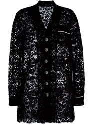 Dolce And Gabbana Lace Jacket Black