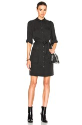 Atm Anthony Thomas Melillo Belted Shirt Dress In Black