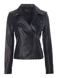 Label Lab Leather Jacket Black