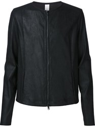 Isabel Benenato Plain Zip Jacket Black