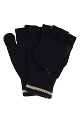Men's A. Kurtz 'Deck' Convertible Knit Gloves Blue Navy