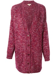 P.A.R.O.S.H. Knitted Long Cardigan Pink And Purple