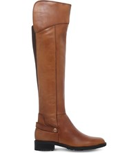Carvela Comfort Vivian Knee High Leather Boots Brown