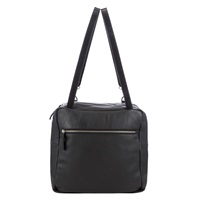 Kin By John Lewis Carson Leather Shoulder Bag Black
