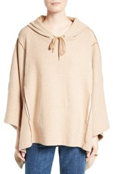 See By Chloe Women's Cotton Blend Poncho Camel