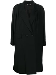 Alessandra Rich Blazer Midi Coat Black