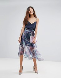 Coast Organza Printed Skirt Multi