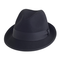 J.Crew Classic Fedora With Grosgrain Ribbon Black