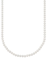 Belle De Mer Pearl Necklace 18' 14K Gold Aa Akoya Cultured Pearl Strand 6 6 1 2Mm