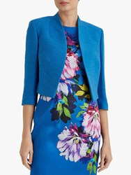 Fenn Wright Manson Caterine Cropped Tailored Jacket Turquoise
