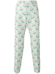 Gucci Floral Jacquard Trousers Green