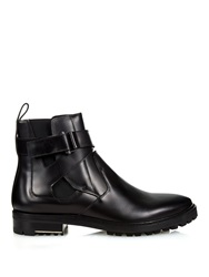 Lanvin Ankle Strap Leather Chelsea Boots