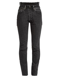 Vetements X Levi's Reworked High Waisted Skinny Jeans Black