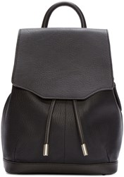 Rag And Bone Black Leather Pilot Rucksack