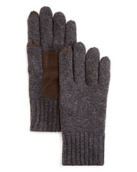 Bloomingdale's The Men's Store At Suede Patch Tech Gloves Grey Brown