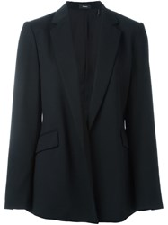 Theory Open Front Blazer Black