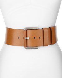 Michael Kors Wide Leather Hip Belt Luggage Women's