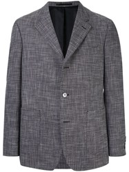 Gieves And Hawkes Woven Blazer Grey