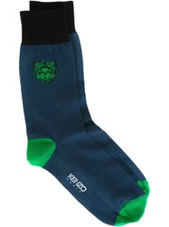 Kenzo Kenzo Paris Embroidered Socks Blue
