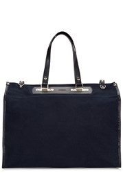 Tramontano Navy Canvas Tote Blue