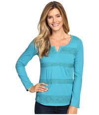 Aventura Clothing Athena Long Sleeve Top Biscay Bay Women's Long Sleeve Pullover Blue