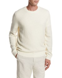 Vince Textured Crewneck Sweater White