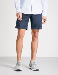 Slowear Slim Fit Linen And Cotton Blend Chino Shorts Navy