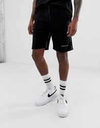Good For Nothing Shorts In Black With Logo Side Taping