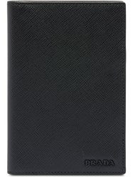 Prada Saffiano Leather Passport Holder Black