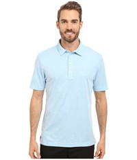 Travis Mathew Crenshaw S S Polo Heather Sky Blue Men's Short Sleeve Knit