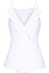 Cushnie Et Ochs Stretch Cady Wrap Top