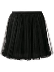 Red Valentino Tulle Mini Skirt Black