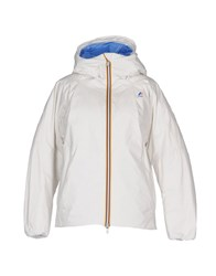 K Way Down Jackets White