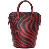 Calvin Klein 205W39nyc Red Zebra Mini Dalton Bucket Bag