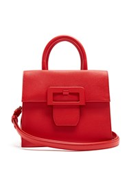 Maison Martin Margiela Large Buckle Leather Bag Red