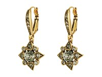 Oscar De La Renta Delicate Star Earring Black Diamond