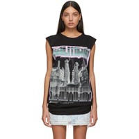 Balmain Black Boyfriend Fit Tank Top