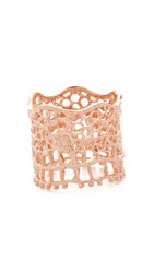 Aurelie Bidermann Vintage Lace Ring Rose Gold