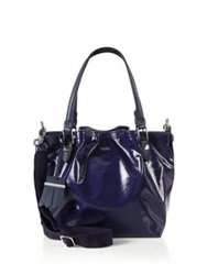 Tod's Flower Mini Coated Canvas Tote Blue