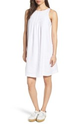 Vineyard Vines Linen Pintuck Swing Dress White Cap