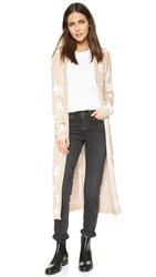Mara Hoffman Star Long Cardigan Sand