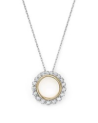 Bloomingdale's Diamond Open Circle Pendant Necklace In 14K Yellow And White Gold .75 Ct. T.W. 100 Exclusive White Gold