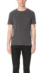 Todd Snyder Classic Short Sleeve Pocket Tee Charcoal