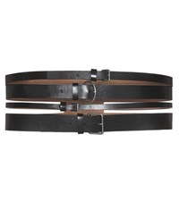 Alexander Mcqueen Leather Belt Black