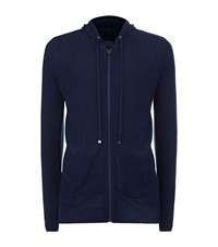 Lot 78 Rib Knit Zip Up Hoodie Male Navy