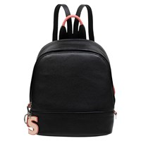Radley Flex Small Leather Zip Around Backpack Black