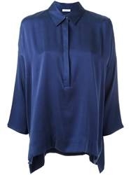 P.A.R.O.S.H. Front Placket Shirt Blue