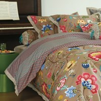 Pip Studio Floral Fantasy Duvet Set Khaki Single