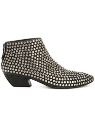 Marsell Stud Detail Ankle Boots Black
