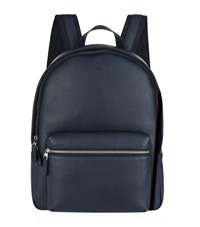 Dunhill Smooth Leather Backpack Unisex Navy